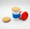 Coffee Cup with bamboo lid | Made Organic Natural Bamboo Fibre | Reusable, eco-Friendly mug