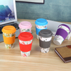 Eco-friendly Coffee Travel Mug Bamboo Fiber Reusable Water Cup with Silicone Lid 12oz