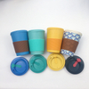 Reusable Coffee Travel Mug with Lids, 15 Oz Bamboo Fiber Beverage Cup