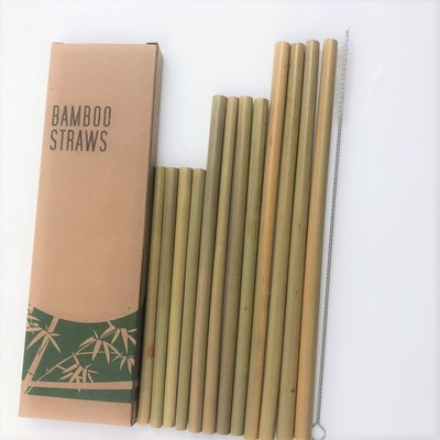 Eco- Friendly Natural Bamboo Drinking Straws with bag