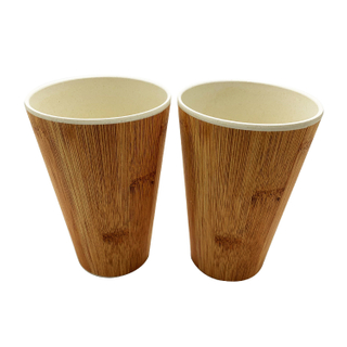Natural Reusable bamboo travel mugs bamboo fibre coffee cups with stopper rick husk coffee husk wheat straw mugs
