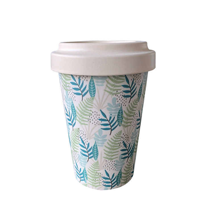 Hot Selling LFGB Approved European Biodegradable Bamboo Fiber Coffee Cups for Sale