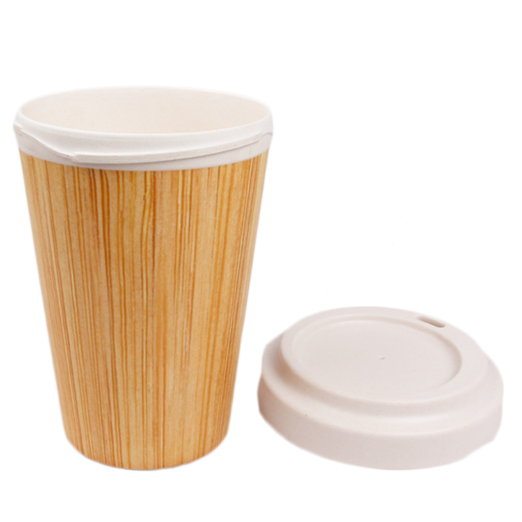 Eco-friendly Food Grade Coffee Cup Bamboo Fiber Mugs with Lid Biodegradable Mugs