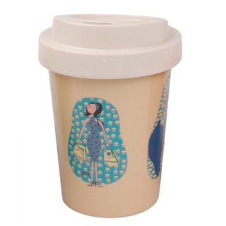 Eco-friendly Biodegradable Takeaway Custom Bamboo Fiber Coffee Cups