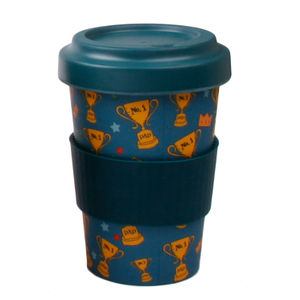 Promotional Customize Travel Bamboo Fiber Coffee Mug 450ML