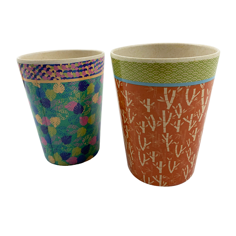 2019 Hot Selling Biodegradable Nature12oz 16oz Custom Bamboo Fiber Coffee Mug