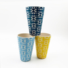New Design Natural Bamboo Fibre Reusable Eco-friendly Takeaway Coffee Cup with Bamboo Fiber Lid Travel Bamboo Fiber Coffee Cup