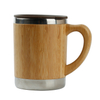 Natural Bamboo Stainless Steel Tea Water bamboo Cups with handle for sale