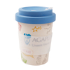Custom Printed Biodegradable Eco Bamboo Fiber Reusable Coffee Cup Travel Mug