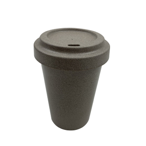 Biodegradable Customized Reusable Bamboo Fiber Coffee Cup with Lids