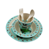 Biodegradable Bamboo Fiber Cutlery Sets Spoon Fork For Amazon